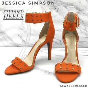 JESSICA SIMPSON STUDDED HEELS